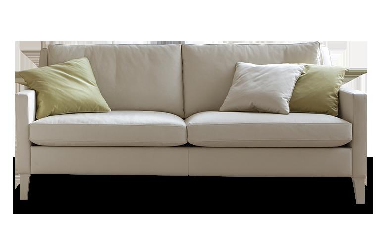 Als Gekonnt Kombinierte Details Fallen Die Schmalen Armlehnen Und Die  Schlanken Füße Ins Ausge, Die Das Sofa Besonders Leicht Erscheinen Lassen.